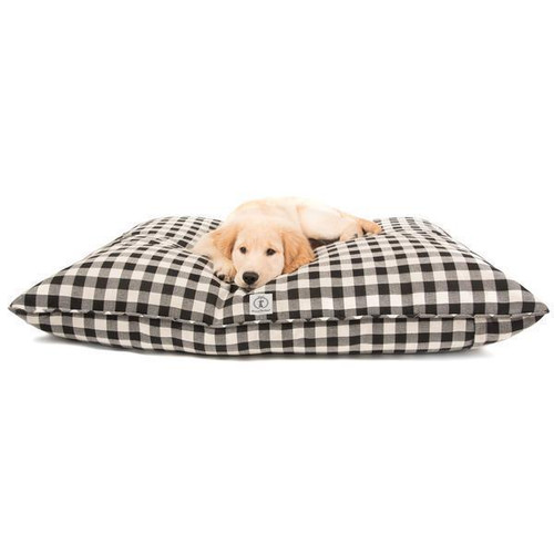 Large Black Buffalo Check Envelope Bed Cover by Harry Barker - Special Order