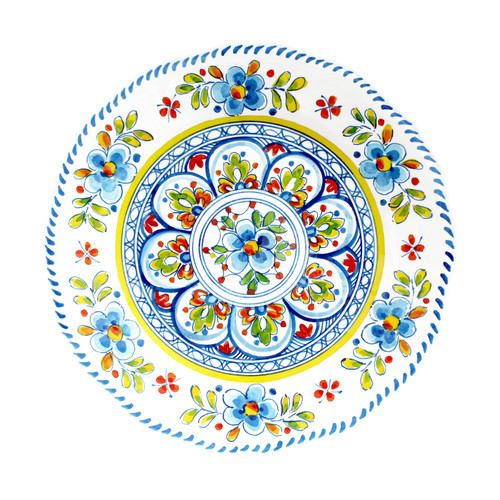 Madrid White Dinner Plate by Le Cadeaux
