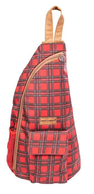 Tartan Sling Bag by Simply Southern