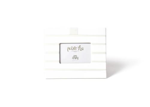 White Stripe Mini Frame by Happy Everything!