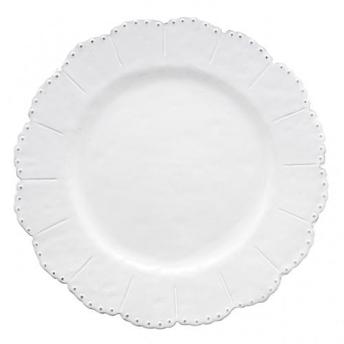 Bella Bianca Beaded Dinner Plate - Arte Italica