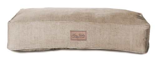 Small Brown Tweed Rectangle Dog Bed Cover by Harry Barker - Special Order