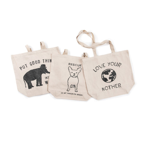 Canvas Tote -Set of 3- by Sugarboo Designs - Special Order