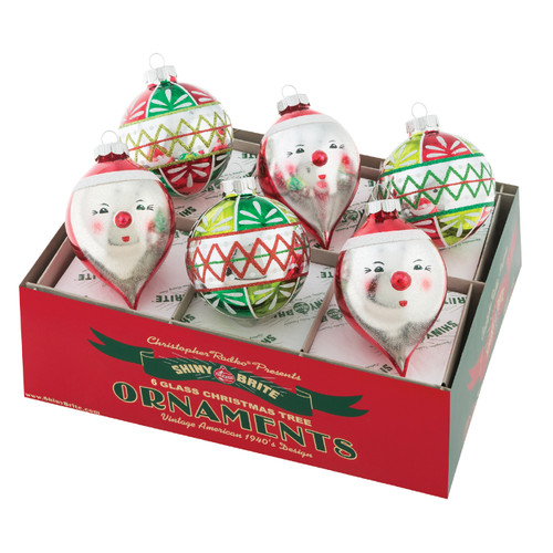 """Holiday Splendor 3.25"""" Decorated Rounds and Figures (Set of 6) by Christopher Radko"""