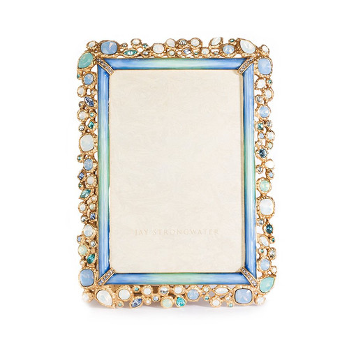"""Jay Strongwater Emery Bejeweled 4"""" x 6"""" Frame - Special Order"""