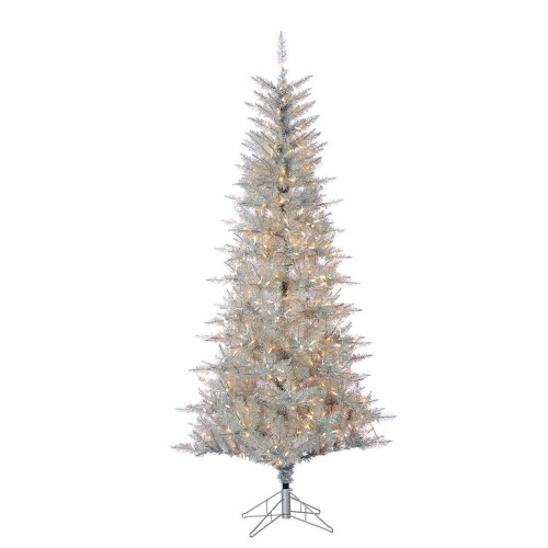 Silver Tuscany 7.5 ft. Tinsel Tree by Sterling Tree