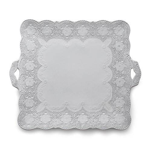 Merletto White Square Platter - Arte Italica