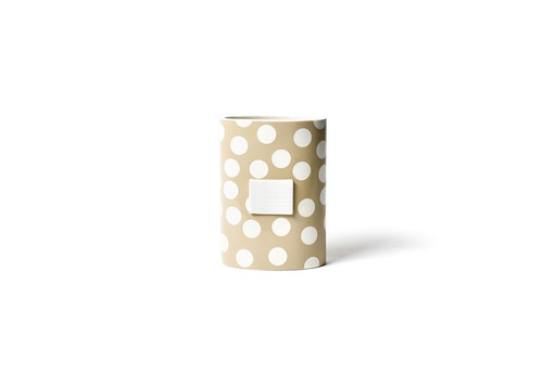 Neutral Dot Mini Oval Vase by Happy Everything!