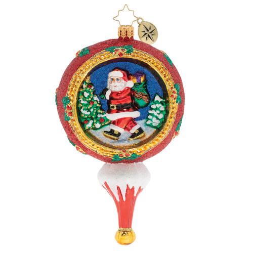 Picturesque Santa Ornament by Christopher Radko