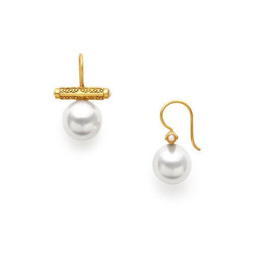 Julie Vos Medici Shell Earrings - Pearl