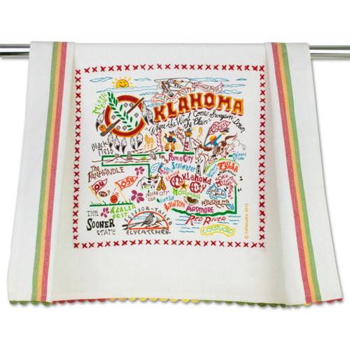 Oklahoma Dish Towel by Catstudio