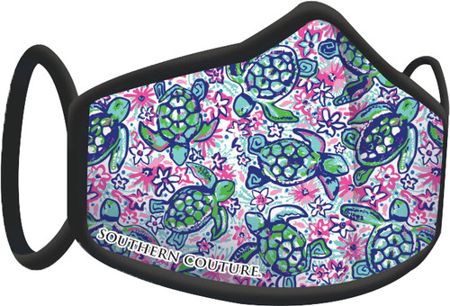 Southern Couture Turtles Face Mask By Couture Tee  Company