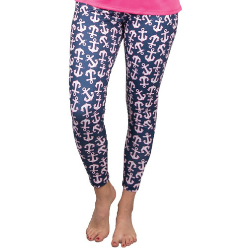 Small Anchor2 Yoga Pants by Simply Southern