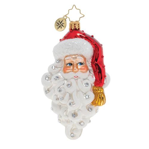 Grinning Santa Ornament by Christopher Radko