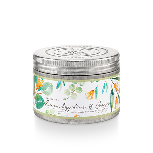 Eucalyptus & Sage 4.1 oz. Small Tin Candle by Tried & True
