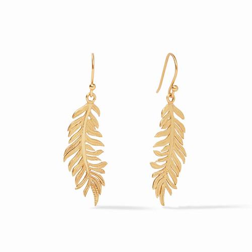 Julie Vos Fern Earring - Gold