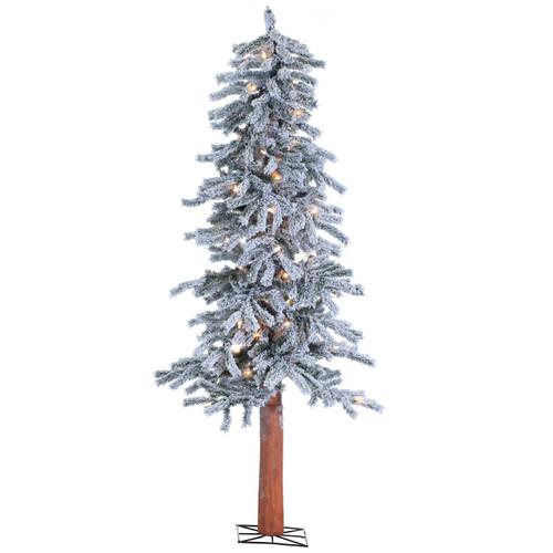 Pre-Lit Flocked 5 ft. Alpine Tree by Sterling Tree