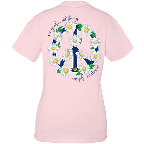Small Peace Lulu Short Sleeve Tee by Simply Southern