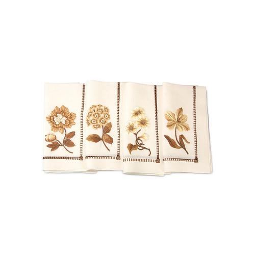 Jay Strongwater Floral Dinner Napkins - Set of 4 - Special Order