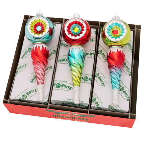 """Festive Fete 7"""" Reflector Icicles  (Set of 3) by Christopher Radko  - Special Order"""