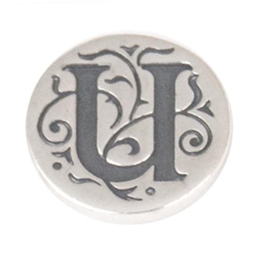 """U"" Sterling Silver Alphabet JewelPop - KJP021Si Kameleon Jewelry {Legacy}"