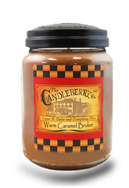 Warm Caramel Brulee 26 oz. Large Jar Candleberry Candle