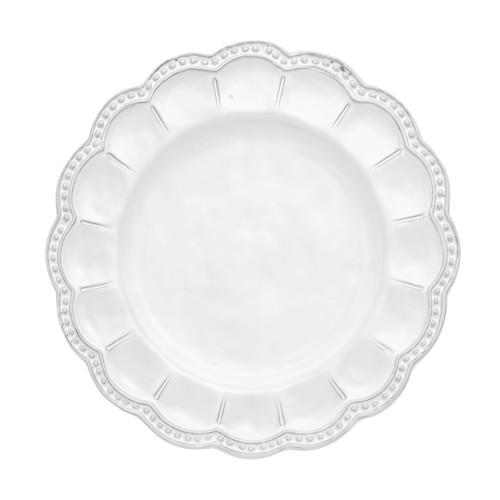 Bella Bianca Beaded Salad Plate - Arte Italica -