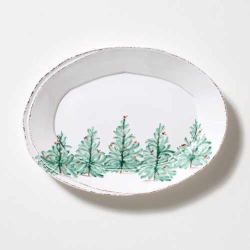 Vietri Lastra Holiday Small Oval Platter - Special Order
