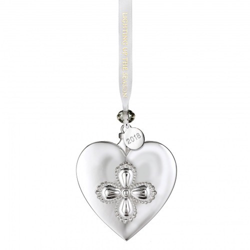Silver Heart Ornament by Waterford