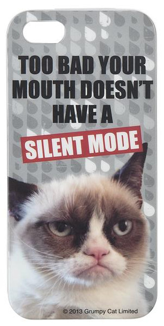 Grumpy Cat iPhone 5 Cover - Silent Mode