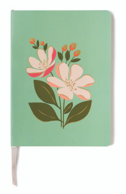 Floral Blue Ruled Journal - Oh So Witty by Spartina 449