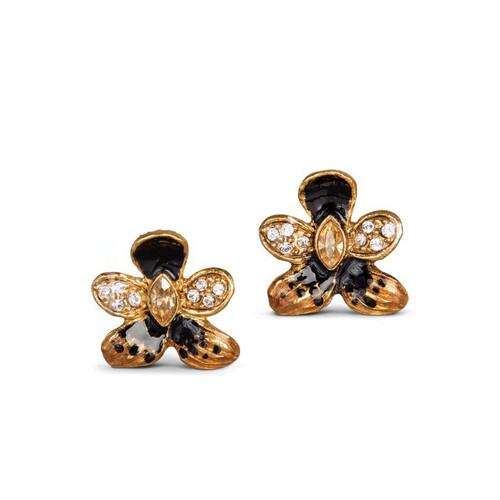 Jay Strongwater Rosalinda Violet Post Earrings