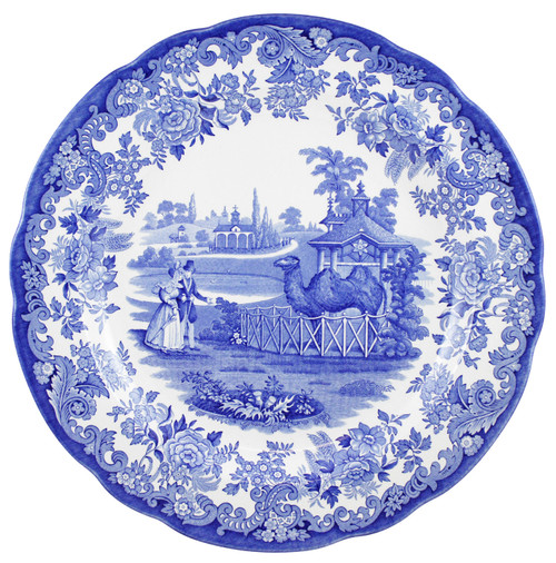 Blue Room Set of 6 Zoological Plates by Spode - Special Order