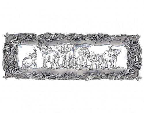 Elephant Oblong Tray by Arthur Court
