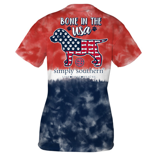 Small America Bone Short Sleeve Tee by Simply Southern