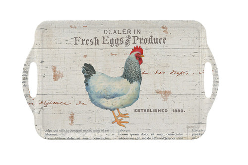 On the Farm Large Melamine Tray by Pimpernel - Special Order
