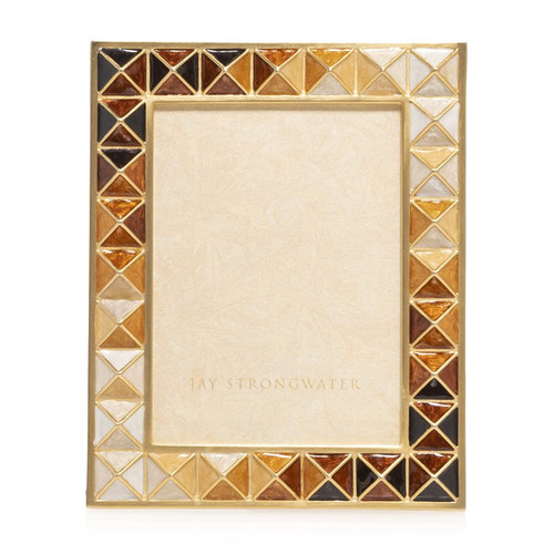 Jay Strongwater Abaculus Pyramid 3 x 4 Frame in Topaz - Special Order