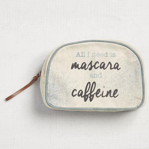 Mascara & Caffeine Makeup Bag by Mona B