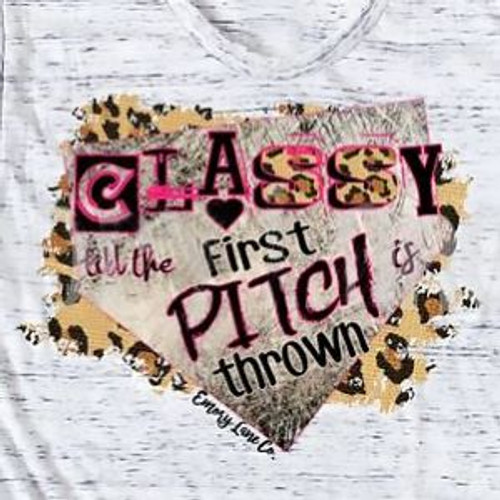Extra Large Classy Till the First Pitch Tee by Emory Lane
