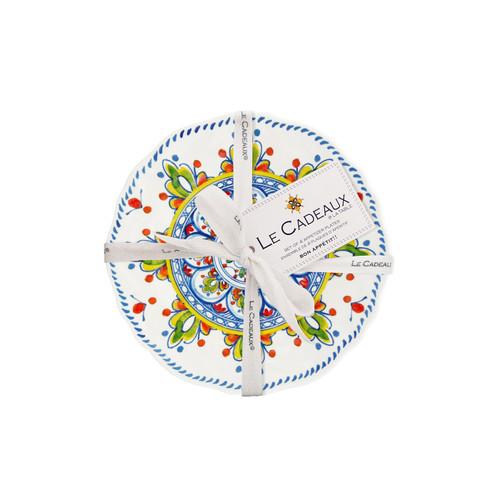 Madrid White Appetizer Plates (Set of 4) by Le Cadeaux
