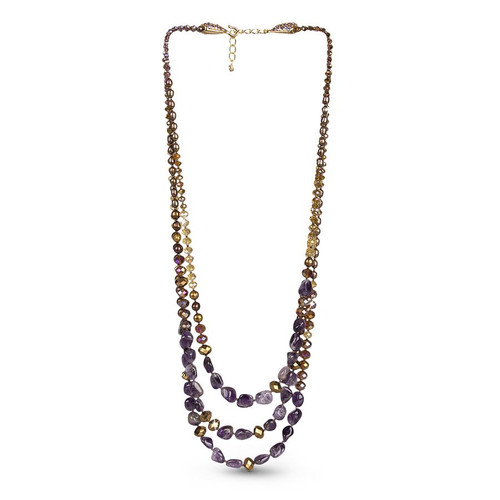 Jay Strongwater Three-Strand Beaded Necklace