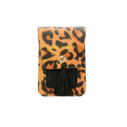 Leopard Phone Satchel by Simply Southern
