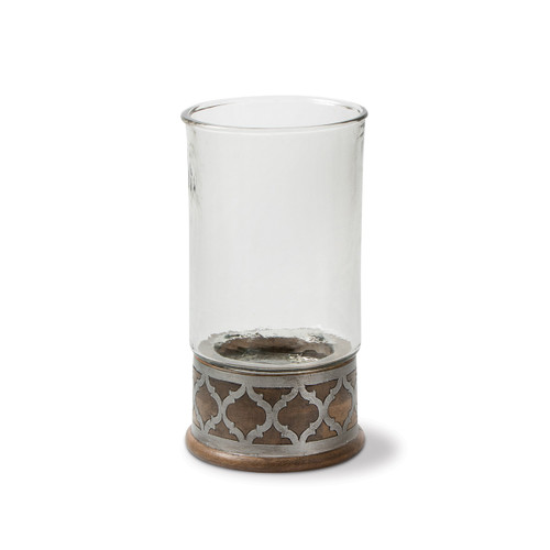 Wood and Metal Medium Candleholder - GG Collection