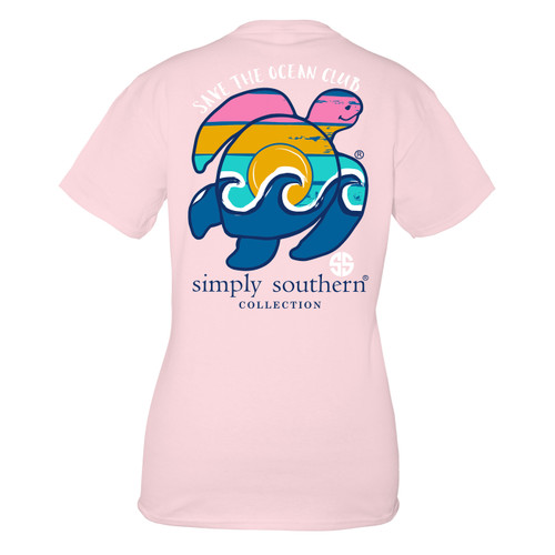 Small Lulu Save the Turtles Waves Short Sleeve Tee by Simply Southern