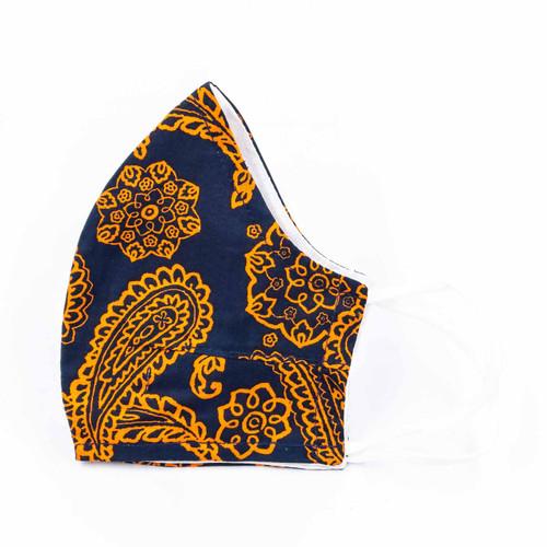 Navy/Orange Bandana Cotton Face Mask by Vera Bradley