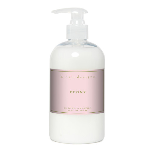 Peony 12 oz. Shea Butter Lotion by K. Hall Designs