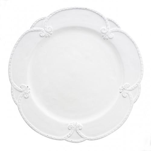 Bella Bianca Rosette Dinner Plate - Arte Italica