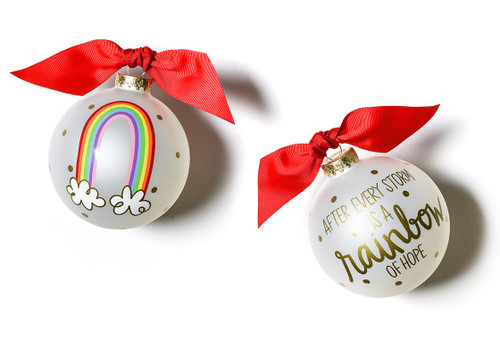 Rainbow of Hope Glass Ornament by Happy Everything!