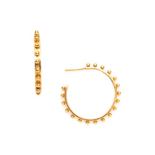 Julie Vos SoHo Medium Earring - Hoop -Gold