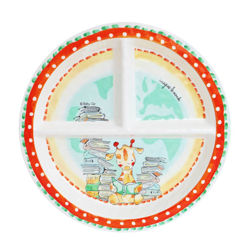 Imagine the World Sectioned Plate by Baby Cie